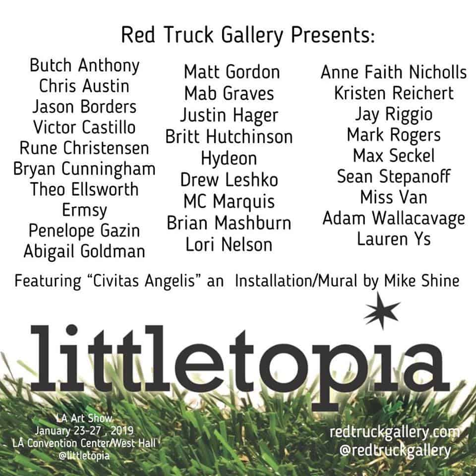 Today at the LA Art Show: Littletopia