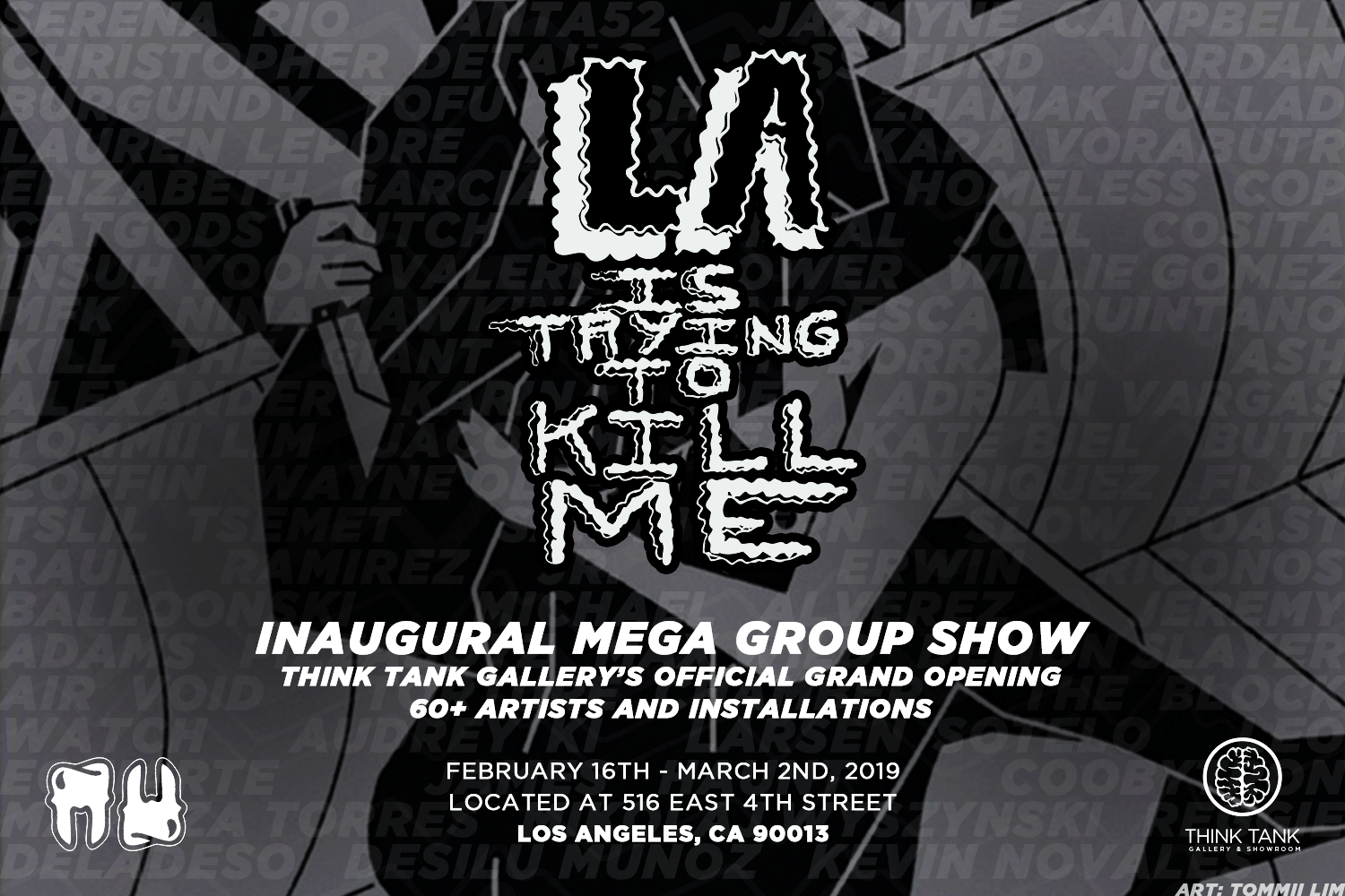 LA is Trying to Kill Me – Think Tank Gallery Inaugural Mega Group Show and Grand Opening