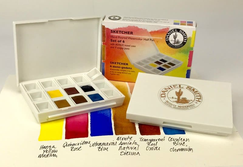What is a good basic watercolor set for beginners and for artists who want to start painting with watercolors?