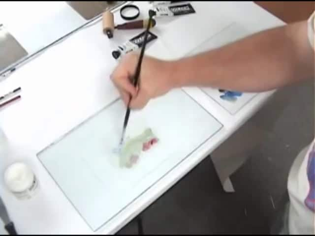 Creating a Monotype with GOLDEN OPEN Acrylics