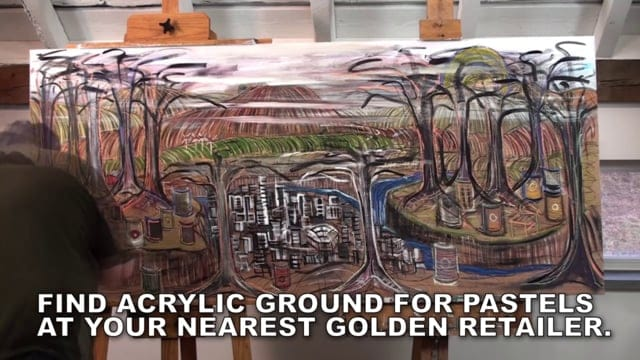 Draw Big with GOLDEN Acrylic Ground for Pastels