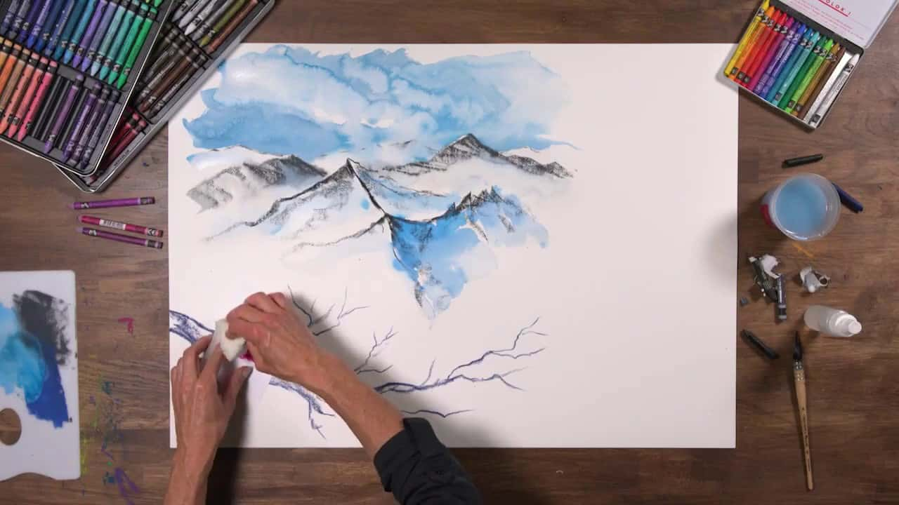 How-To: Neocolor II Water-soluble Wax Pastels
