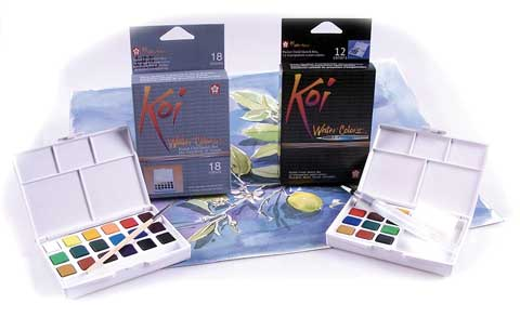 Mom-umental Gift Ideas: Koi Creative Art Colors (CAC) Watercolor Sets and Pocket Field Sketch Boxes by Sakura